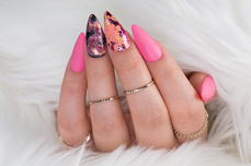 Jolifin Soft Foil Flakes - pink-copper