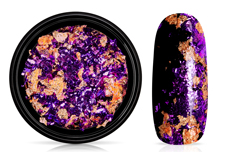 Jolifin Soft Foil Flakes - purple-copper