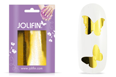 Jolifin Aurora Sticker - Butterfly gold chrome