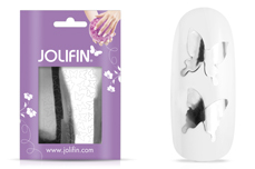 Jolifin Aurora Sticker - Butterfly silver chrome
