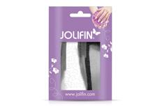 Jolifin Metallic Sticker - Butterfly silver chrome