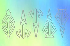 Jolifin Aurora Sticker - Ornament ice