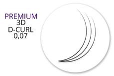 Premium MixBox - 3D Wimpernfächer D-Curl 0,07