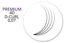 Premium MixBox - 4D Wimpernfächer D-Curl 0,07