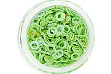 Jolifin Glitter Hexagon hellgrün