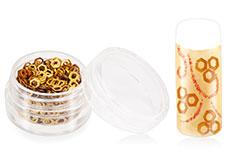 Jolifin Glitter Hexagon gold
