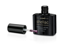 Jolifin LAVENI Shellac - sparkle chrome aubergine 12ml