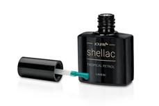 Jolifin LAVENI Shellac - tropical petrol 12ml