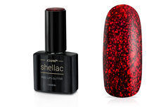 Jolifin LAVENI Shellac - red lips Glitter 12ml