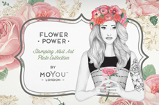 MoYou-London Schablone Flower Power Collection 27