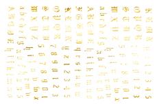 Jolifin LAVENI ABC Sticker -  gold