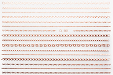 Jolifin LAVENI Stripe Sticker - Kette rosé