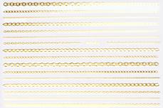 Jolifin LAVENI Stripe Sticker - Kette gold