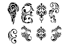 Jolifin Black Elegance Tattoo Nr. 49