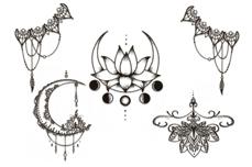 Jolifin Black Elegance Tattoo Nr. 50