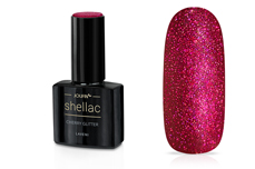 Jolifin LAVENI Shellac - cherry Glitter 12ml