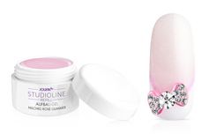 Jolifin Studioline Refill - Aufbau-Gel milchig rosé Glimmer 15ml