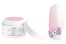 Jolifin Studioline Refill - Aufbau-Gel milchig rosé Glimmer 30ml