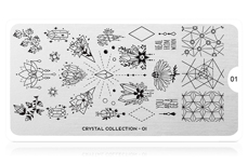 MoYou-London Schablone Crystal Collection 01