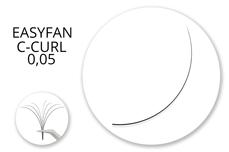 Jolifin Lashes - EasyFan - MixBox C-Curl 0,05