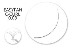 Jolifin Lashes - EasyFan - MixBox C-Curl 0,03