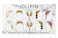 Jolifin LAVENI PRO Handmade Strass-Slider - gold 1