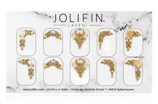 Jolifin LAVENI PRO Handmade Strass-Slider - gold 2
