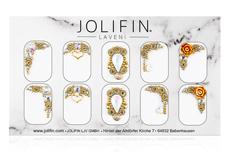Jolifin LAVENI PRO Handmade Strass-Slider - gold 3
