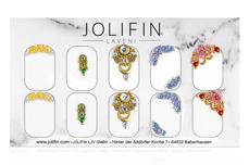 Jolifin LAVENI PRO Handmade Strass-Slider - silber & gold 3