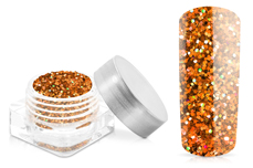Jolifin Glitter Pailletten klein orange