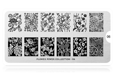 MoYou-London Schablone Flower Power Collection 06