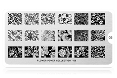 MoYou-London Schablone Flower Power Collection 05
