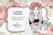 MoYou-London Schablone Flower Power Collection 16