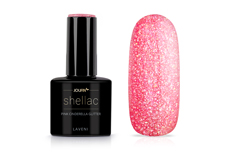 Jolifin LAVENI Shellac - pink cinderella Glitter 12ml