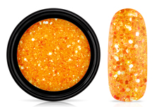 Jolifin LAVENI Nightshine Glitter - glossy neon-orange