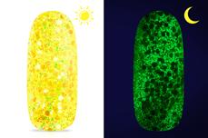Jolifin LAVENI Nightshine Glitter - glossy neon-yellow