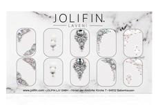 Jolifin LAVENI PRO Handmade Strass-Slider - silber 6