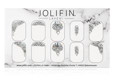 Jolifin LAVENI PRO Handmade Strass-Slider - silber 9