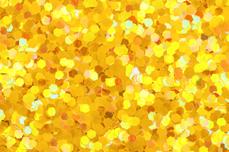 Jolifin Glitter Pailletten groß mittelgelb
