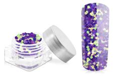 Jolifin Glitter Pailletten groß lila
