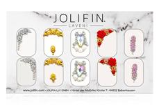 Jolifin LAVENI PRO Handmade Strass-Slider - silber & gold 12