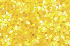 Jolifin Glitter Pailletten groß gelb