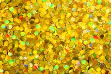 Jolifin Glitter Pailletten groß gold