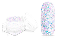 Jolifin Shiny Glitter - white mermaid