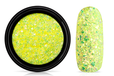 Jolifin LAVENI Mermaid Flakes Glitter - yellow