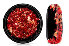 Jolifin Soft-Foil Flakes - copper & red