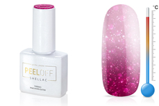 Jolifin LAVENI Shellac PeelOff - Thermo pink-white Glitter 12ml