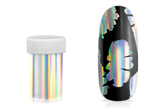 Jolifin Transfer Nagelfolie XL - Chrome unicorn silver