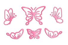 Jolifin LAVENI Sticker Butterfly - rosé