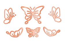 Jolifin LAVENI Sticker Butterfly - rosé-gold